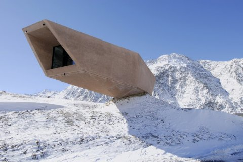 cantilever house in mountain architecture ice cave modern art museum experience amazing structure stystem steel large cantilver architecture photography