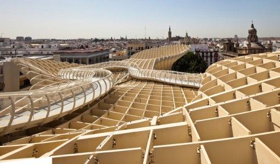 Jurgen-Mayer-H-Seville-Spain-photo-Fernando-Alda-yatzer wooden organic architecture timber