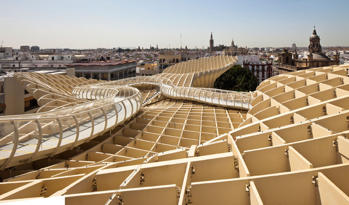 Jurgen-Mayer-H-Seville-Spain-photo-Fernando-Alda-yatzer wooden organic architecture timber