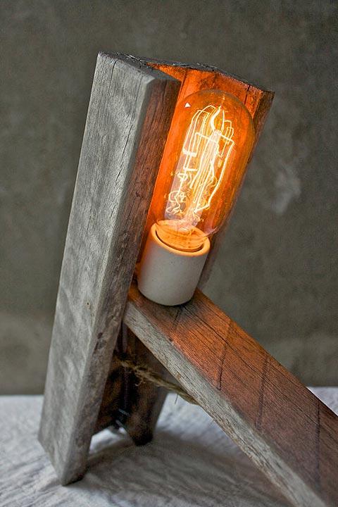luke lamp industrial vintage light woodenn lamp cool designer gift chic style filament bulb lighing interior decor instyle
