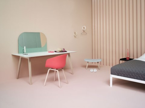 minimalist cardboard interior design scandinavian furniture interior architecture simple wooden timber designer chair and desk