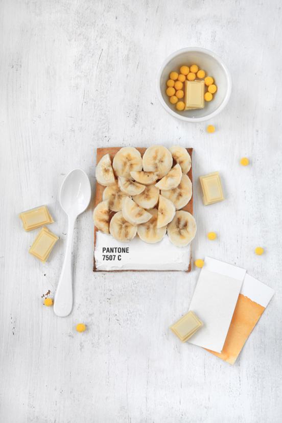 pantone breakfast tarts food design art color colour recipe banana yellow pantone