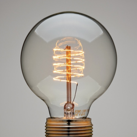 Spiral Thread Globe Lamp light bulb