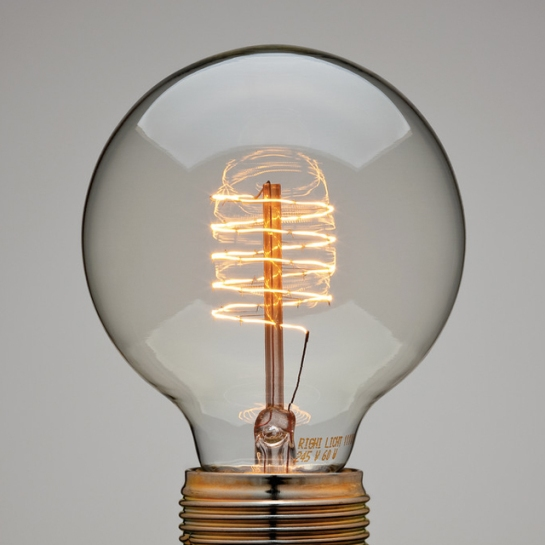 Spiral Thread Globe Lamp light bulb design