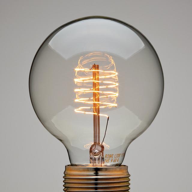 Spiral Thread Globe Lamp light bulb design