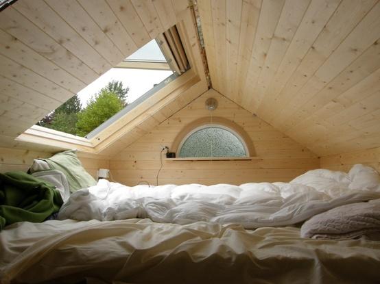 cozy timber attic bedroom
