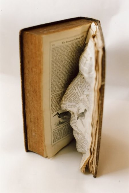 book face sculpture of paper art by the Unicorn Diaries