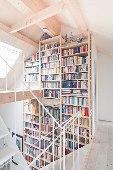 8.5 metres or 27 feet tall Bookshelf design library home living reading room ikea shelf shelving stacking tall book rack library architecture living diy custom made bookshelf porn