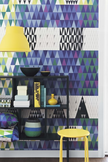 modern interior design wallpapers by scandinavian designers graphic geometric pattern interio architecture
