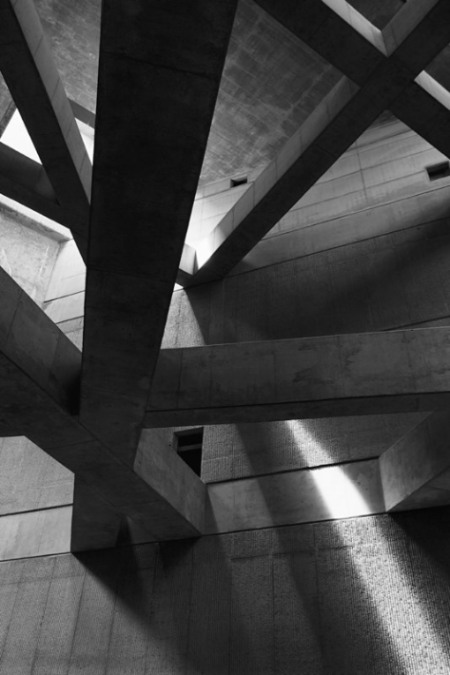 concrete beam architecture light dark solid metro station underground budapest solid brutalism structure black and white monochrome photography