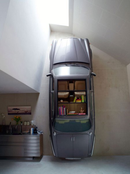 crazyiest greatest coolest best bookshelves in the world car book shelf interior design dutch mountain village residence cool fun furniture architecture dutch architecture amsterdam office style home living