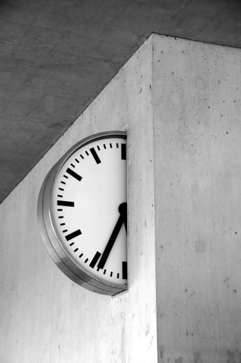 clock time swiss design train station graphic design watch minimalistic apple hour concrete wall architecture interior