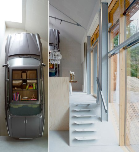 car book shelf interior design dutch mountain village residence cool fun furniture architecture dutch architecture amsterdam office style home living