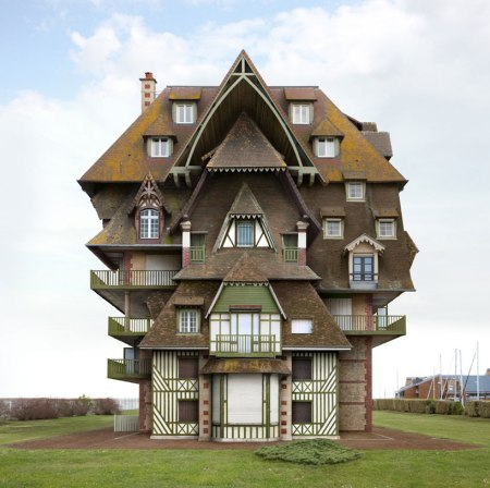 impossible architecture structures collages photoshoped photographer filip dujardin digital collaging technique from photographs of real buildings