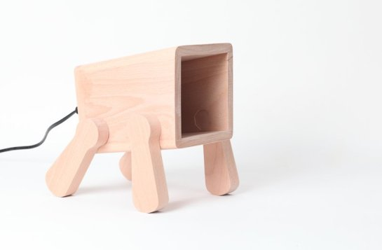 Playful Frank Lamp by Pana Objects thailand lamp light design cute cool timber doggy puppy desk lamp modern funny art interior product design