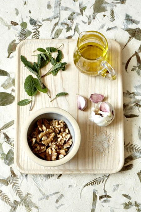 food photography ingredients ham italitan chorizo preparation recipe cooking pesto