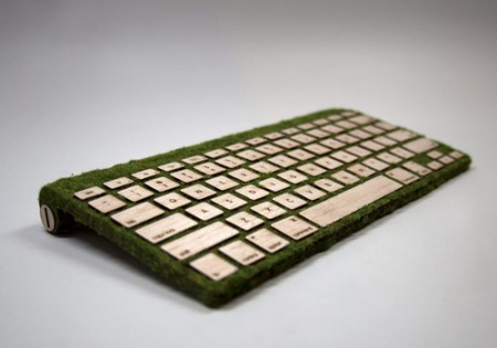 green timber keyboard mac apple design key laser cutting engraving technology gadget comptuer design key typing sustainble keys
