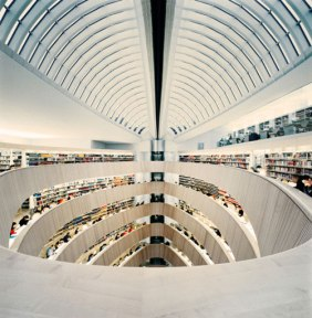 library architecture photography read books