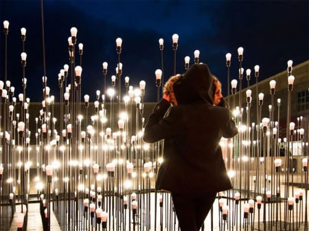 art light bulbs installation led ikea architects interactive ledscape