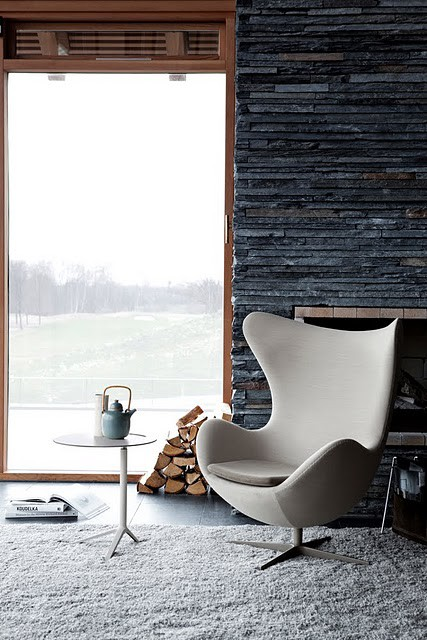 lounge chair scandinavian design arne jacobson egg chair lounge privacy furniture design interior decoration style home modern fabric materials winter cabin cottage view romantic weekend