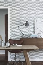 scandinavian wall paper design graphic pattern modern interior architecture