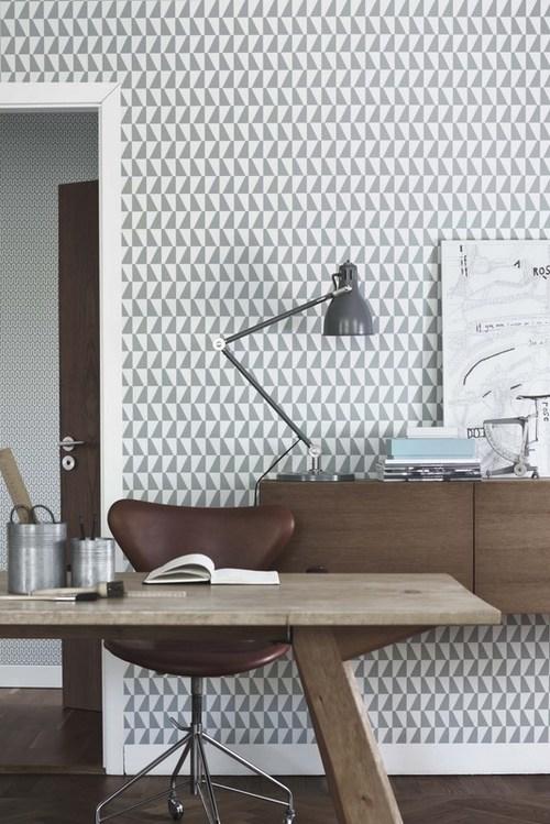 scandinavian wall paper design graphic pattern modern interior architecture