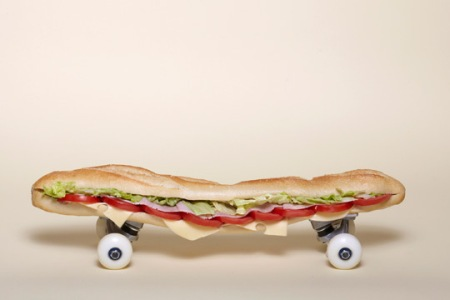 sandwhich skateboard i want to skate art artist sculpture funny food skating art blog wordpress photography design inspiration
