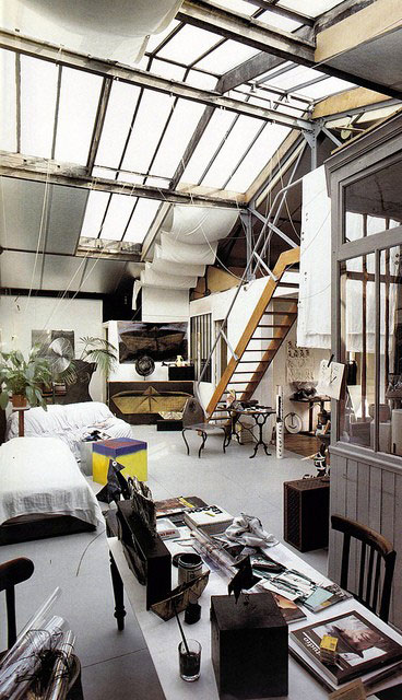 studio apartment penthouse interior design architecture furniture living cool loft amazing aparment creative artist studio