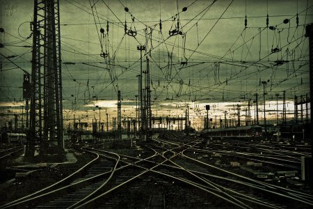 tain tracks mace photoshop train station budapest lines intersection confusing mess wires tracks lightroom photoshop edited editing composition