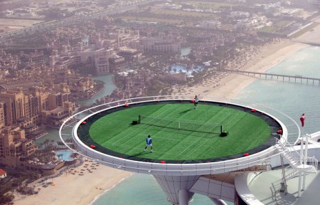 tennis burj al arab federer sport burj al arab dubai expensive luxury hotel 7 star travel holiday desert photography sport tennis play grass court event