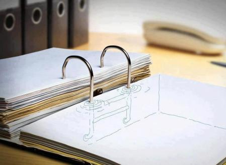 Pool' – 3d notebook sketch drawing as part of the kielo travel