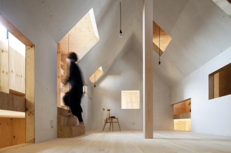ant house- Kai Nakamura A house within a house, mA-style, minimalism, timber, prefabricated, architecture, interior design, photography, Japan, pitched roof, timber architecture, functional