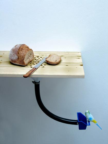 break design bird feeder DIY combination dispensing bird food cutting bread crumps kitchen design industrial design cool innovative
