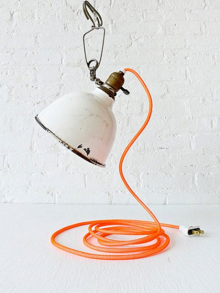 vintage clip lamp plumen bulp pendant heavy duty metal clip grip rubber recycled lamp design cool vintage lights color string coards plug buy shop etsy industrial design furniture