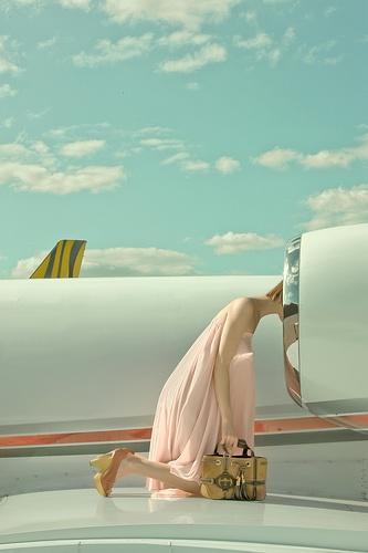 fashion photoshoot funny turbine airplane head funny dress photographer purse bag melbourne australia vintage
