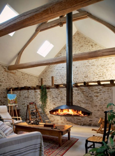 fire place house fireplace cabin stone wood roof interior decoration style holiday weekend cabin interior design architecture fire place furniture