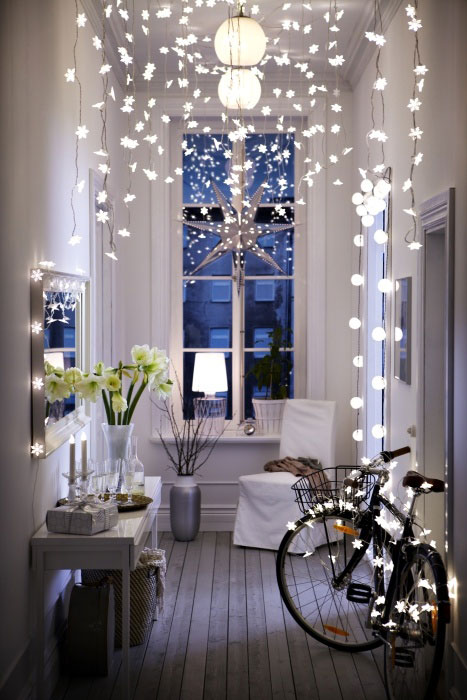 interior lights decoration fairy lights ikea hallway bike styling lighting cute beautifuly interior design architecture living home modern christmas decor