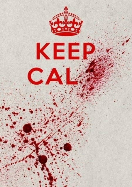 keep calm and carry on poster funny cool zombie edition blood spatter vampire typography graphic design art