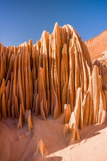 The Red tsingy of Antsiranana (Diego Suarez), Madagascar rock landscape formations sand limestone national park travel amazing natural rock sculpture