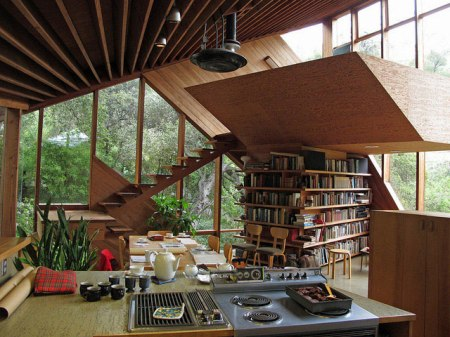 Walstrom House, near the Santa Monica mountains just outside of Los Angeles, designed in 1969 by Californian architect John Lautner. / photographs by Jon Buono timber asymmetrical architecture village house usa