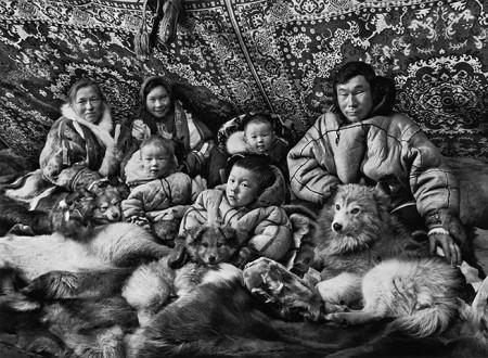 nenets peiple portrait documentary siberia cold winter arctic black and white monochrome photography ice snow eskimos inuit