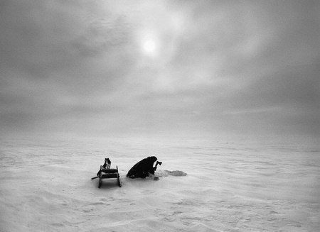 nenets peiple portrait documentary siberia cold winter arctic black and white monochrome photography ice snow eskimos inuit