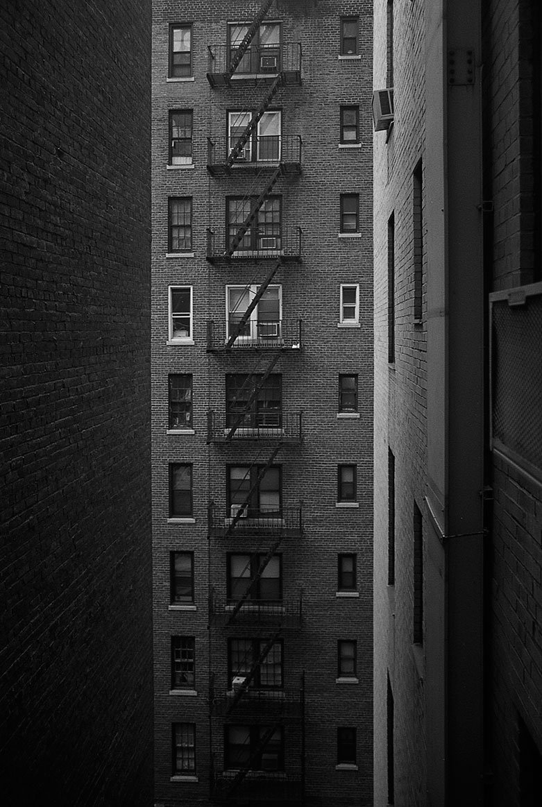 wall brick building new york