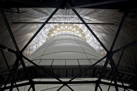 biggest inflatable balloon art installation sculpture artist cristo gasometer gas tank oberhausen germany