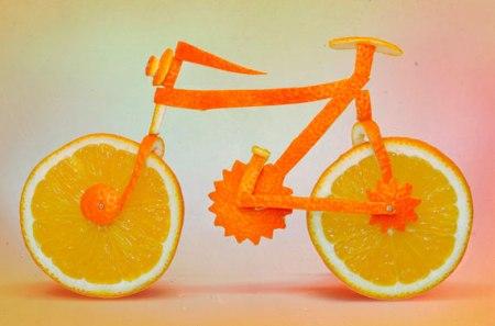 orange cat animal sculpture funny cute orange peel fruit art