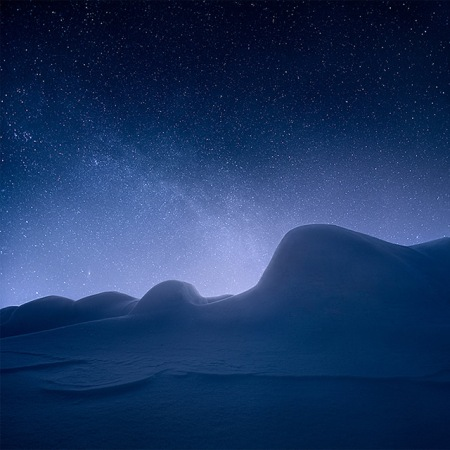 iceland landscape nature  night finland surreal sky darkness road snow winter feeling photography