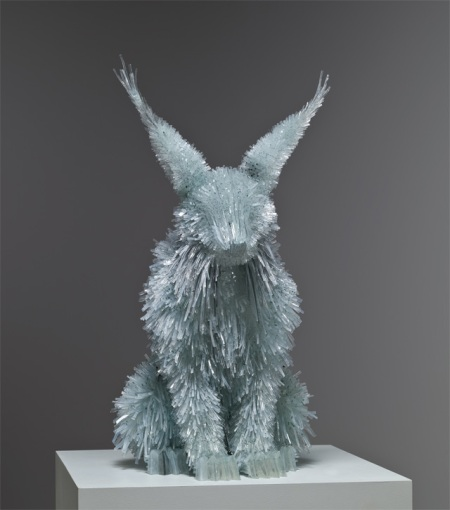 Animal sculptures made from shattered gUsing carefully broken shards of colored glass, Polish artist Marta Klonowska assembles translucent animals in life-like proportion and size. Almost all of her sculptures are based on animals found in baroque and romantic paintings by such artists as Peter Paul Rubens or Francisco de Goya next to which they are often displayed. Her work appeared most recently at European Glass Context 2012, and you can see many more images over on lorch + seidel contemporary.