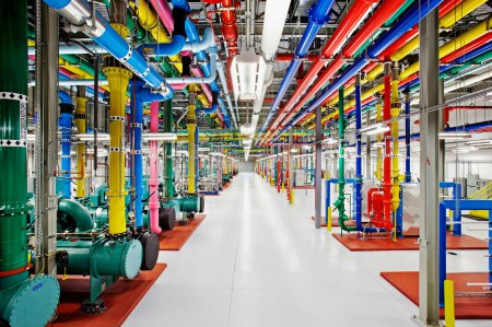 google data server farm centre secret location technology internet google facebook inside look color pipes storage informatoin digital