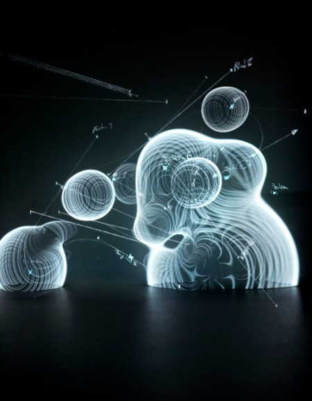 Immaterials, electromagnetic, art, photo, holograms, information illustration, design, metadata visualization, information integration