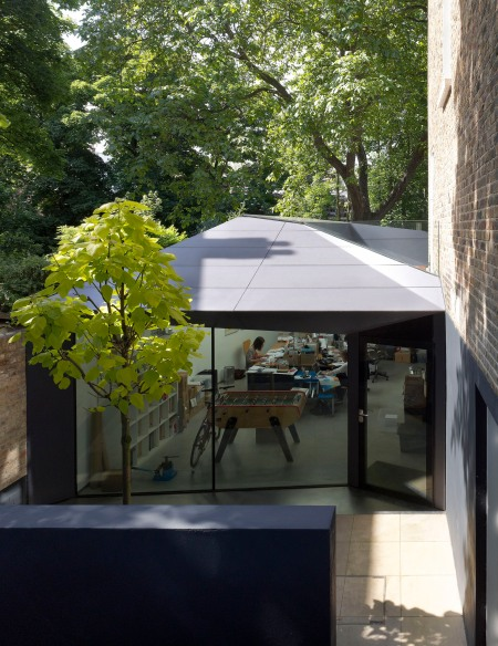 Modern house extension with large windows and open sky lights by alison brooks architects london living design architecture home office working